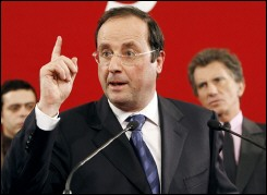 Hollande doigt pointé