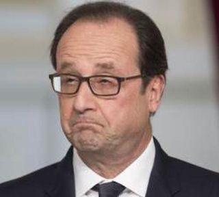 Hollande grimace