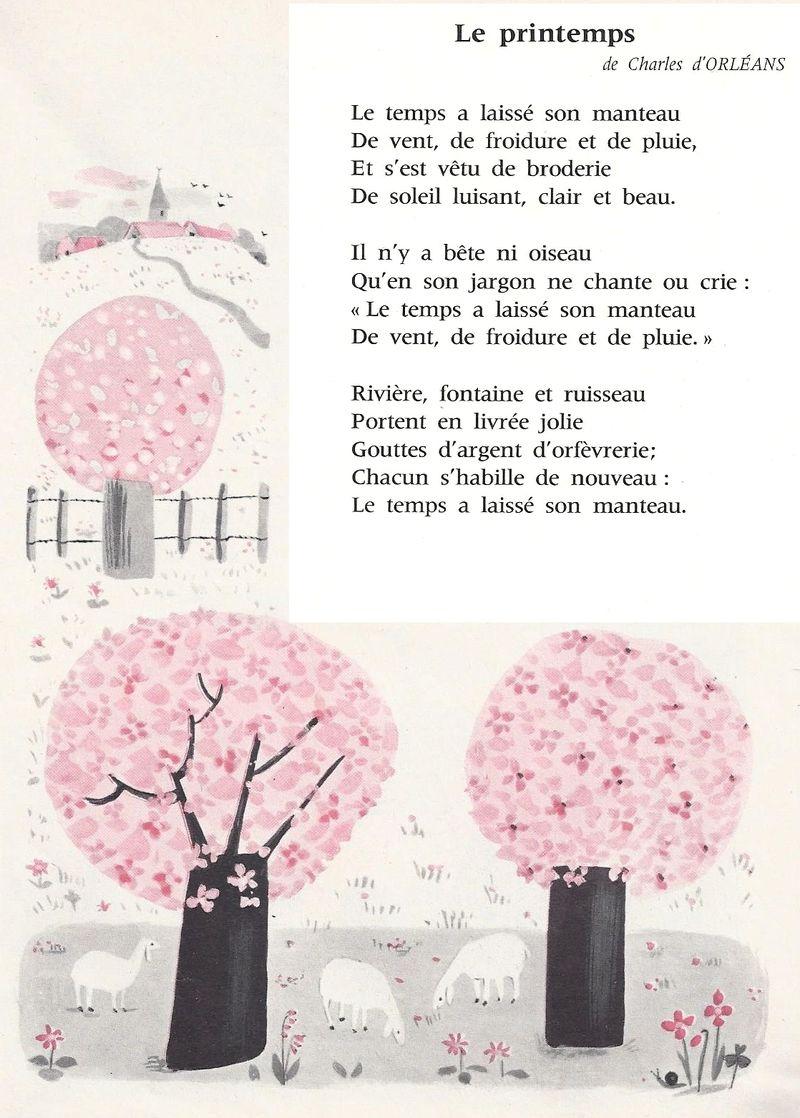 Poésie printemps