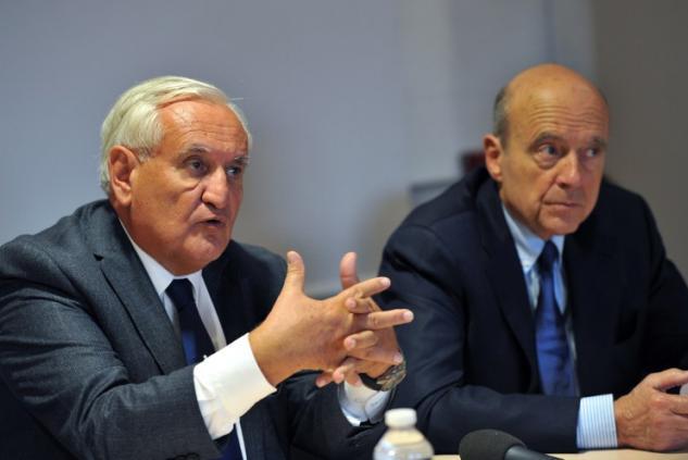 Jean-Pierre Raffarin et Alain Juppé