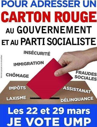Carton rouge UMP