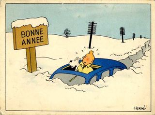 Tintin Bonne annee neige