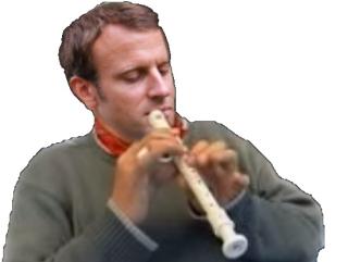 Macron flutiste