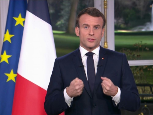 Macron voeux 2020